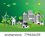 eco green city.save the world... | Shutterstock .eps vector #779626159