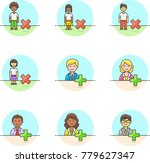 users  multicolor icon set | Shutterstock .eps vector #779627347
