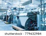 textile mill workshop interior  ... | Shutterstock . vector #779632984