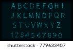 neon abc letters symbol typeset.... | Shutterstock . vector #779633407