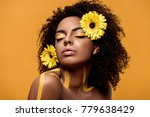 young sensual african american... | Shutterstock . vector #779638429