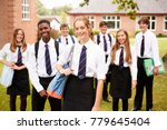 portrait of teenage students in ... | Shutterstock . vector #779645404