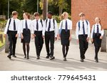 group of teenage students in... | Shutterstock . vector #779645431