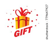 vector logo box with gifts | Shutterstock .eps vector #779647927