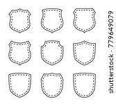 shield shape icons set. black... | Shutterstock . vector #779649079