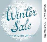 winter sale poster template... | Shutterstock .eps vector #779653405