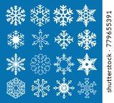 snowflake vector icon... | Shutterstock .eps vector #779655391