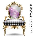 luxurious baroque chair soft... | Shutterstock .eps vector #779658151