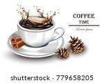 coffee splash realistic vector. ... | Shutterstock .eps vector #779658205