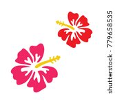pink and red hibiscus vector...   Shutterstock .eps vector #779658535