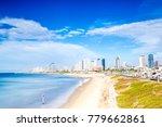 tel aviv panorama taken from...   Shutterstock . vector #779662861