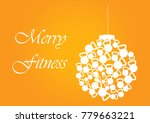 merry fitness christmas and... | Shutterstock . vector #779663221