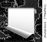 black frame of sheet cut and... | Shutterstock . vector #779669611
