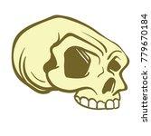 skull cartoon illustration... | Shutterstock .eps vector #779670184