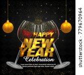 new year flyer  2018    Shutterstock .eps vector #779670964