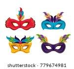 mardi gras masks icons | Shutterstock .eps vector #779674981