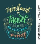 travel. vector hand drawn... | Shutterstock . vector #779676394