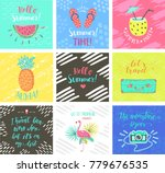 set of summer hand lettering... | Shutterstock . vector #779676535