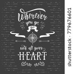 travel. vector hand drawn... | Shutterstock . vector #779676601