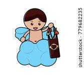 cute cupid angel love holding... | Shutterstock .eps vector #779682235