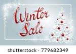 winter sale poster template... | Shutterstock .eps vector #779682349