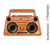 old radio stereo | Shutterstock .eps vector #779684065