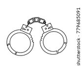 handcuffs police tool security... | Shutterstock .eps vector #779685091