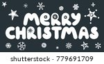 merry christmas caption with... | Shutterstock .eps vector #779691709