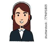 call center agent avatar... | Shutterstock .eps vector #779691805