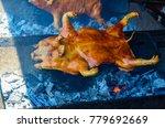 barbecued suckling pig ... | Shutterstock . vector #779692669