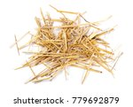 straw pile isolated on white... | Shutterstock . vector #779692879