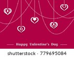 valentine's day background ...   Shutterstock .eps vector #779695084