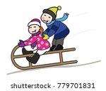 happy  boy and girl kids... | Shutterstock .eps vector #779701831