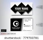 black banner name card modern... | Shutterstock .eps vector #779703781