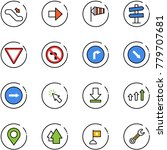 line vector icon set  ... | Shutterstock .eps vector #779707681