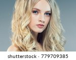 young woman with beauty skin... | Shutterstock . vector #779709385