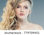 young woman with beauty skin... | Shutterstock . vector #779709451
