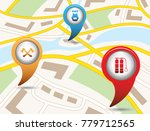 set of tourism services map... | Shutterstock .eps vector #779712565