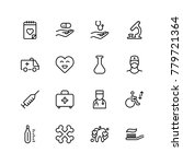 dental icon set. collection of... | Shutterstock .eps vector #779721364