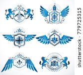 vintage heraldry design...   Shutterstock .eps vector #779725315