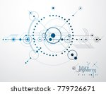 technical plan  abstract... | Shutterstock .eps vector #779726671