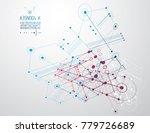 technical plan  abstract... | Shutterstock .eps vector #779726689