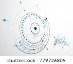 technical plan  abstract... | Shutterstock .eps vector #779726809