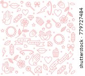 girl power quote. icon set... | Shutterstock .eps vector #779727484
