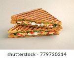grilled sandwich with cheese ... | Shutterstock . vector #779730214