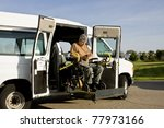 handicapped man operating a... | Shutterstock . vector #77973166