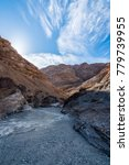 Small photo of Floor and sky of Mosaic Canyon in Death Valley National Park in California Mosaic Canyon in Death Valley National Park in California