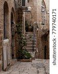 stone old city jaffa in tel aviv   Shutterstock . vector #779740171