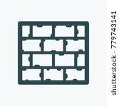 slate roof vector icon   Shutterstock .eps vector #779743141