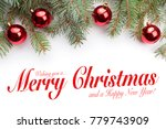 christmas greeting card design  ... | Shutterstock . vector #779743909